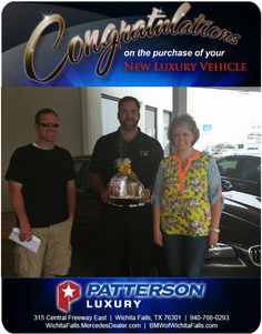 Congratulations to Jaclyn Andrew on her new car. - From Tyler Caskey at Patterson Luxury. Luxury Vehicle, Luxury Cars, Wichita Falls, New Bmw, Mercedes Benz, Congratulations, Fancy Cars