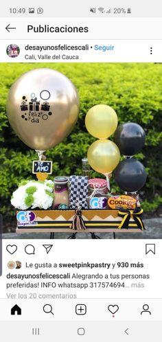 Breakfast, Ideas, Food, Breakfast Basket, Gift Baskets, Helium Balloons, Breakfast Cafe, Meal, Eten