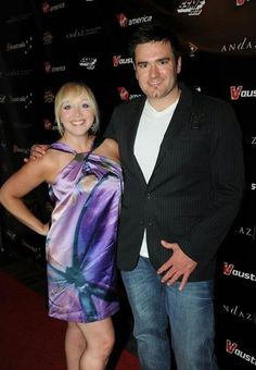 Heather and John pose at the Red Carpet for the Sunset Strip Music Festival party