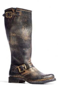 Frye Coach Distressed Boots