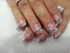 tips uñas acrilicas mejores equipos – Page 6 of 14 – fashion-style. Glam Nails, Nail Manicure, Cute Nails, Pretty Nails, Purple Nail Designs, Colorful Nail Designs, Nail Art Designs, Nails Design, Fabulous Nails