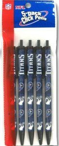 Tennessee Titans Click Pens - 5 Pack