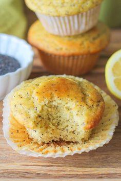 Grain-Free Lemon Poppy Seed Muffins - refined sugar free, gluten-free, and paleo-friendly | TheRoastedRoot.net #healthy #breakfast #recipe