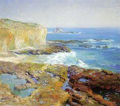 Guy Rose (1867-1925) - laguna rocks low tide 1915