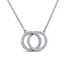 Dizeo necklace made in sterling silver with 18K gold overlay, set with lab created diamonds. Available at Crews Jewelry!