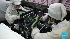 An iPad being made at a Foxconn facility in China.