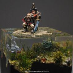 MiniatureWargaming - Pirates On A Raft Water Base