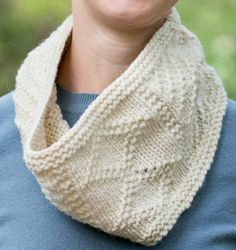 Free Knitting Pattern for Gansey Cowl A quick cowl featuring gansey diamond, diagonal lines and textured motifs with a simple garter stitch border. Quick knit in bulky yarn. Designed by Kerry Bullock-Ozkan