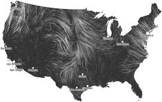 anthropologie:    The Wind Map is an art project that uses real-time weather data to visualize wind patterns across the United States. The end result combines all of these gusts and breezes into something reminiscent of Van Gogh's brushstrokes.  Via: Hint.fm  | HT: Subtraction