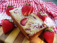 Leenee's Sweetest Delights: Buttermilk Banana & Strawberry Bread - I used bl. - Recipes I Love - Banana Bread Quick And Easy Sweet Treats, Quick Snacks, Strawberry Banana Bread, Strawberry Recipes, Cooking Rolled Oats, Oatmeal Chocolate Chip Cookies, No Bake Treats, Kefir, Stick Of Butter