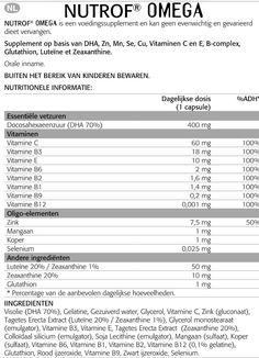Bijsluiter NUTROF OMEGA #bijsluiter #nutrof #omega #nutrofomega #voedingssupplementen #oogvoeding #voeding #oog