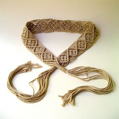 70s vintage Boho Macrame Belt by SkinnyandBernie on Etsy