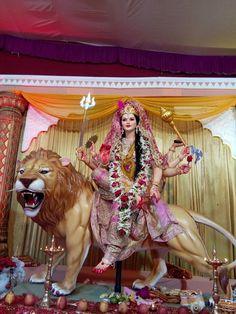 Durga Images, Ganesh Images, Durga Ji, Durga Goddess, Kali Hindu, Hindu Art, Shiva Tandav, Navratri Puja, Maa Durga Image