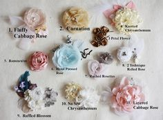 Fabric Flower Tutorial Pattern Hand Pressed by jewelboxballerina