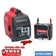 This Honda EU Series DC Charging Cord is compatible with and EU generators (excluding Companion and The cord allows you to use your Honda generator to charge DC batteries. 2000 Watt Generator, Solar Generator, Portable Generator, Camping Generator, Honda Generator, Series Dc, Rv Battery, Power Tool Batteries, Camper Hacks