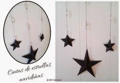 cintas de navidad con estrellas de 5 puntas // http://patriblanco-patricia.blogspot.com.es/2014/12/como-hacer-estrellas-navidad.html