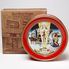 Vintage COLLIN STREET BAKERY TIN fruit cake Corsicana Texas