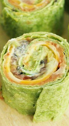 7-Layer Dip Tortilla Pinwheels