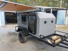 Small Camping Trailer, Off Road Camper Trailer, Trailer Build, Airstream Trailers, Truck Camper, Rv Campers, Small Cargo Trailers, Camper Van, Expedition Trailer