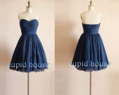 Hey, I found this really awesome Etsy listing at https://www.etsy.com/listing/168954004/navy-blue-prom-dress-short-bridesmaid