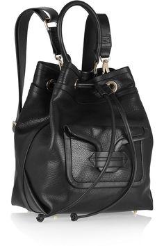 Pierre Hardy | Grained-leather shoulder bag | NET-A-PORTER.COM