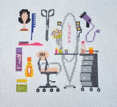 Hairdresser Cross Stitch Sampler - NEEDLEWORK