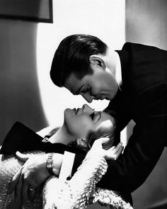 Clark Gable and Joan Crawford - Photo by George Hurrell from Dancing Lady (1933) in a gown by Adrian