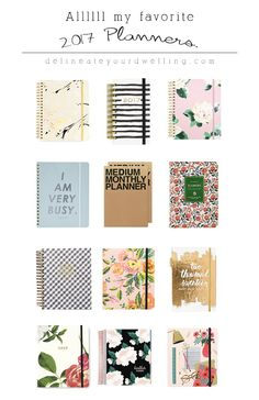 Favorite 2017 Planners and Calendars, Delineate Your Dwelling