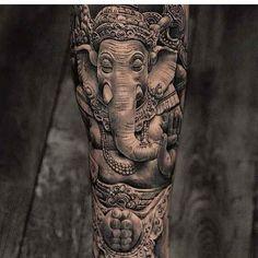 Znalezione obrazy dla zapytania ganesha tattoo