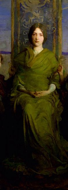 Virgin Enthroned (detail) by Abbott Handerson Thayer, 1891. Oil on canvas | The Smithsonian