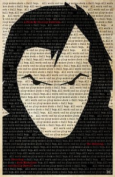 Jack Nicholson in 'The Shining' Poster, pop art, film art, inspiration, graphic art, collage art.