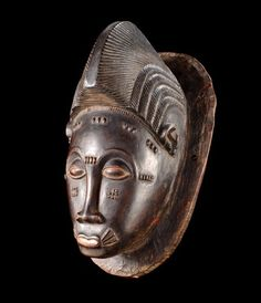"Africa | Mask ""kpan"" from the Baule people of the Ivory Coast 