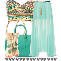 A fashion look from October 2014 featuring Topshop mini skirts, Charlotte Russe bikinis and Yves Saint Laurent belts. Browse and shop related looks.