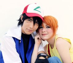 Ash Ketchum and Misty Pokemon Cosplay by SailorMappy on DeviantArt Misty Pokemon, Pokemon Go, Ash Ketchum Cosplay, Cosplay Costumes, Halloween Costumes, Pokemon Ash Ketchum, Pokemon Halloween, Ash And Misty, Pokemon Cosplay