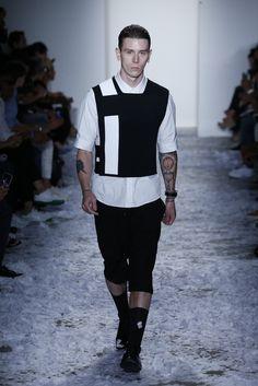 "New York Fashion Week: Men's Trendsetters - ""graphic elements"" Public School RTW…"
