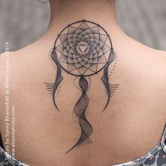 Image result for geometric dreamcatcher tattoo