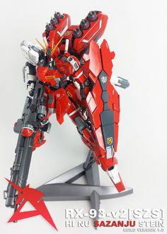 GUNDAM GUY: MG 1/100 Hi-Nu Sazanju Stein Gundam - Custom Build