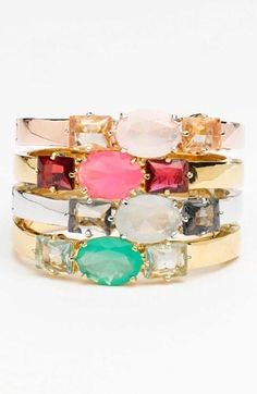 Pretty, stacked wrist with kate spade new york bangles.