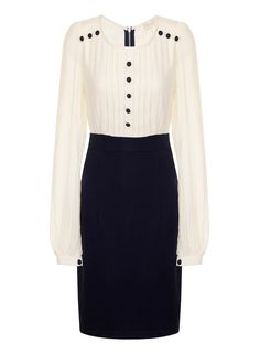 I noticed a few cute items from Dorothy Perkins today that reminded me of Kate's older Military Inspired outfits. 21st Dresses, Dresses For Work, Dresses Dresses, Karen Page, Pencil Dress, Duchess Of Cambridge, Work Wear, High Waisted Skirt, Classy