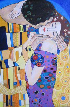 """Recreación de """"El Beso"""" de Klimt"""