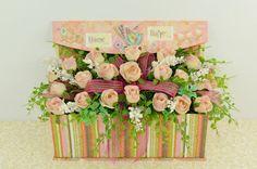 Spring Arrangement With Roses , Unique Gift's , Mother Day , Easter , Valentine , Spring , Home Decor ,Spring Decor , Floral Arrangements on Etsy, $30.00