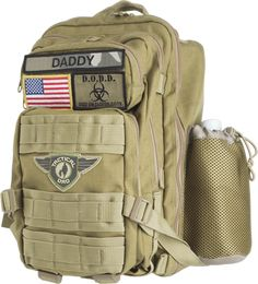 The D.O.D.D. (Dad On Diaper Duty) Pack provides a manlier alternative to the old pastel colored diaper bag every man has come to dread. Built Dad Tough!