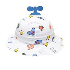 0a63ab84 Clearance IEason Toddler Baby Kids Boys Girls Cartoon Pattern Bucket Hats  Sun Helmet Cap (Blue)