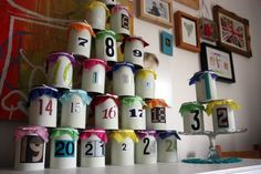 Recycle Tins Advent