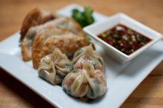 vegan dim sum, dumplings or pot stickers - wonderful Asian food, great for football tailgaiting