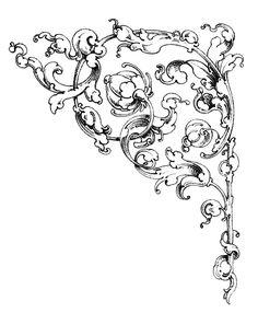 Dreamy Romantic Scrolls - Wedding Clip Art - The Graphics Fairy
