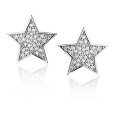 Bling Jewelry Patriotic CZ Pave Star Stud Earrings 925 Sterling Silver ($27) ❤ liked on Polyvore featuring jewelry, earrings, clear, drusy earrings, druzy earrings, post earrings, cz stud earrings and stud earrings