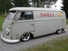shell gasoline VW panel BUS | re-pinned by http://www.wfpblogs.com/category/a-perfect-gentleman/