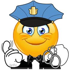 Police Source by uschiherrmannsdoerfer Funny Emoticons, Funny Emoji, Smiley Emoticon, Emoji Craft, Love Smiley, Naughty Emoji, Emotion Faces, Dont Touch My Phone Wallpapers, Emoji Symbols
