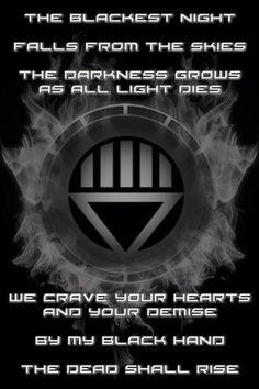 Firey Black Lantern Chamber and oath by KalEl7 on DeviantArt